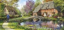 Cottage By The Brook  636 Piece Jigsaw Puzzle | Gibsons Jigsaw Puzzles |